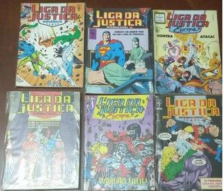 Lote X 6 Liga Da Justica Abril Portugues - Justice League