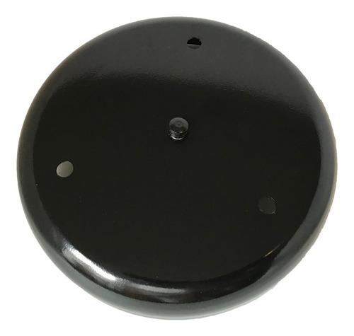 Imagen 1 de 6 de Base De Techo 3 Luces Redonda 20cm Metalico Negro