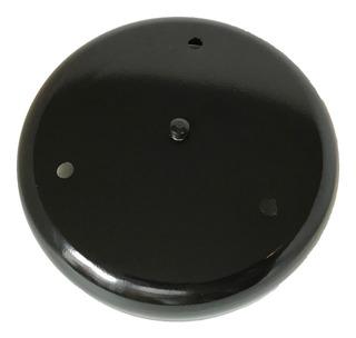Base De Techo 3 Luces Redonda 20cm Metalico Negro