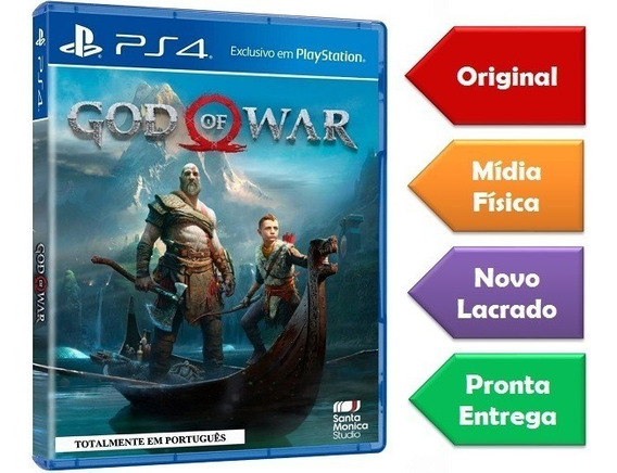 God Of War 4 Ps4 Mídia Física Lacrado Novo Original