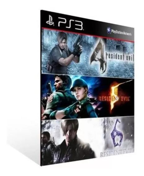 Coleção Resident Evil 4 / 5 / 6 Ps3 Psn Envio Rápido