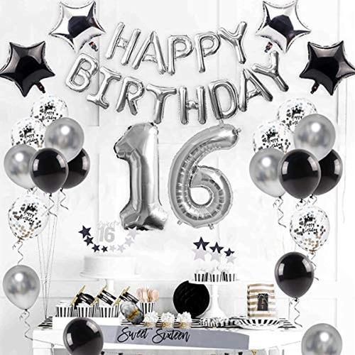 Kit De Decoración Para Fiestas De 16 Cumpleaños. Wayfun