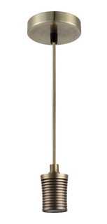 Holder Decorativo Portalampara Colgante Bronce Antiguo E27
