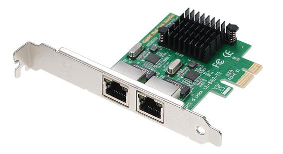 Placa De Servidor De Rede 2 Portas Gigabit 1000m Ethernet Pc