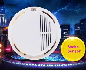 Alarme De Fumaça Incêndio Sensor Detector Monitor Segurança