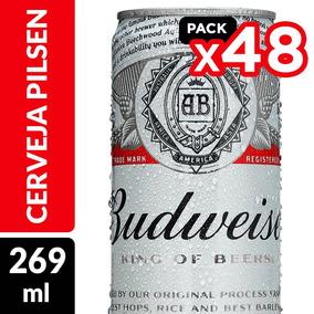 Cerveja Budweiser Lata 269ml - Pack Com 48 Unidades
