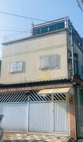 Imagem 1 de 13 de Sobrado À Venda, 200 M² Por R$ 600.000,00 - Vila Valença - São Vicente/sp - So0068