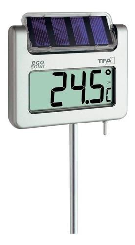 Termômetro De Jardim Digital Com Painel Solar Tfa