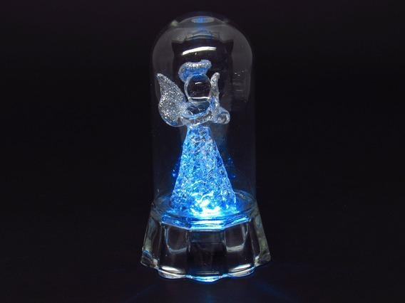 Kit 12 Anjo Cúpula Vidro Com Luz 9 Cm