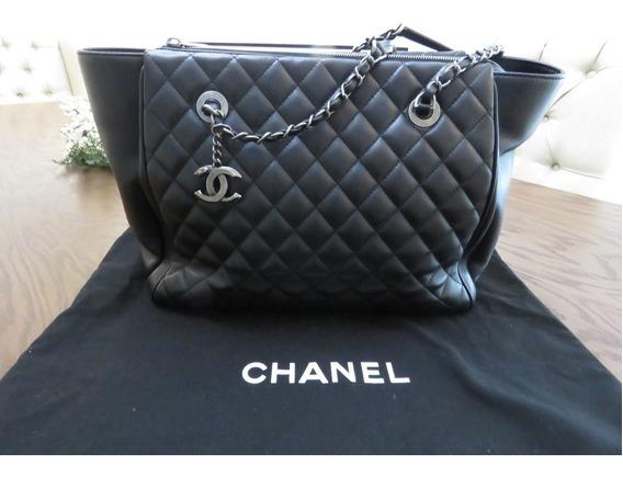 Bolso Chanel Shopping Bag Grande Original En Piel