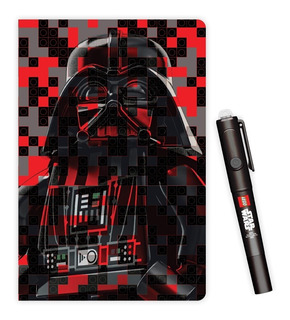 Libreta Lego C/ Pluma Tinta Invisible Darth Vader