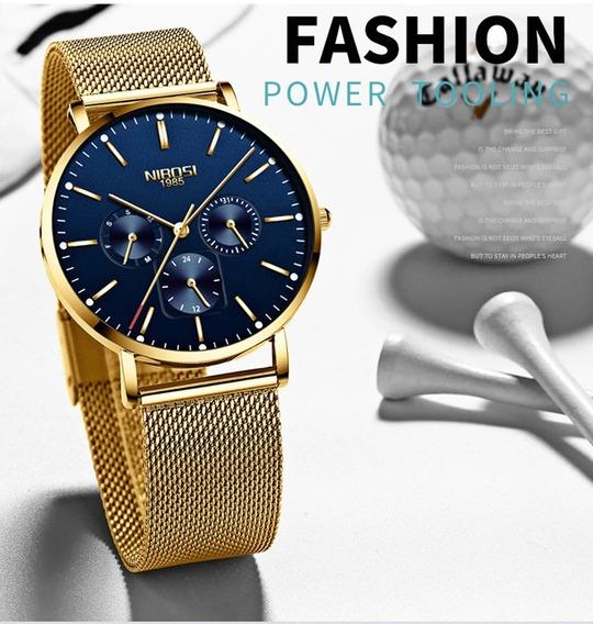 Relógio Masculino Unissex Luxo Nibosi 2321-1 Promoção!