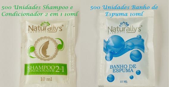 Shampoo E Cond 2x1 + Banho Espuma Sachê 10 Ml Cx 500 Unidades Cada