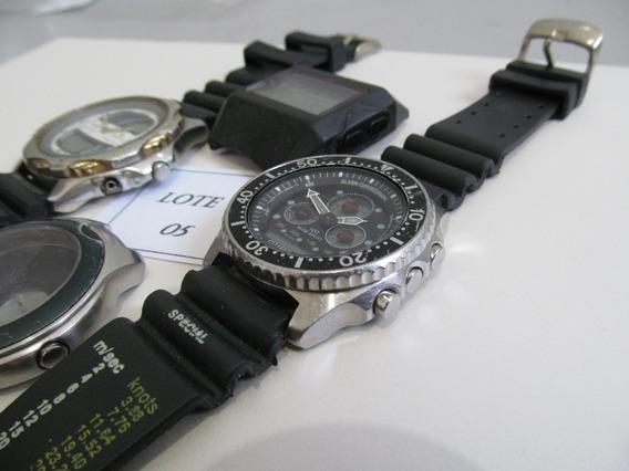 Citizen Lote Nº 05 Relógios Sucatas - Liquidação De Janeiro