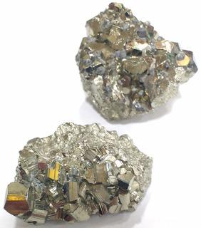 Lote Com 2 Piritas Qualidade Extra 153g 5cm Pedras Naturais