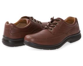 Zapatos Cafés Para Hombre FlexiTalla 27
