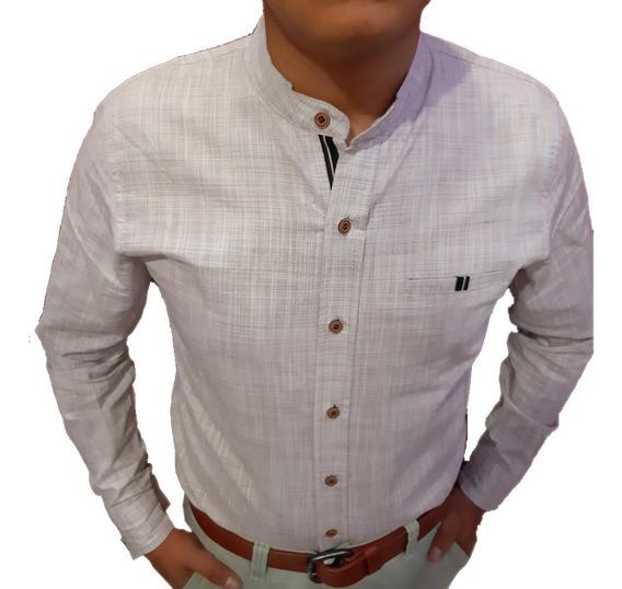 Camisa Cuello Mao Caballero Hombre
