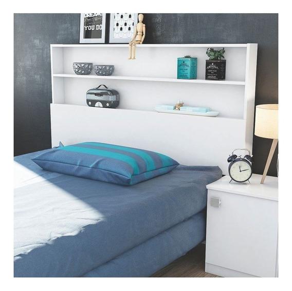 Cabeceira de cama Lukaliam Móveis Luka Solteiro 164cm x 114cm branca-brilho
