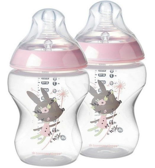 Kit 2 Mamadeiras Closer To Nature Rosa 260ml Tommee Tippee
