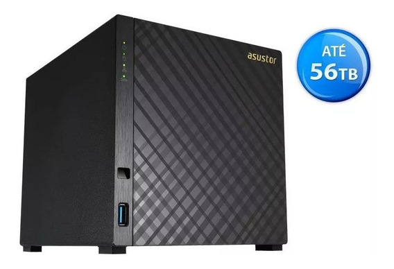 Servidor Nas Storage Asustor As1004t 4 Baias Marvell Dualcore