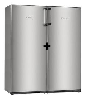 Heladera Kohinoor Con Freezer Side By Side Acero Inox. Beiro