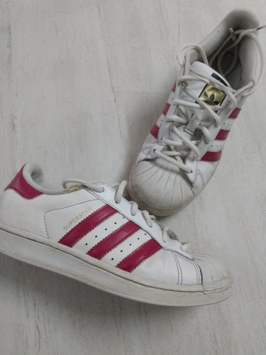 Zapatillas adidas Superstar Originales Blancas Y Rojas