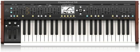 Teclado Behringer Sintetizador Deepmind 12 Deepmind12 Vozes