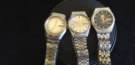 Lote De 3 Relógios De Pulso Masculino Orient