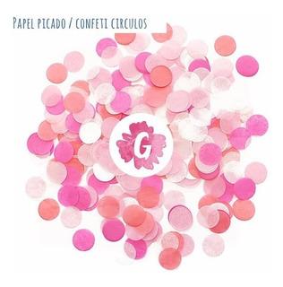 Confetti Confeti Circulo Papel Picado Casamientos Cumpleaños