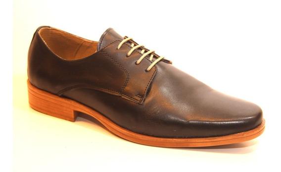 Zapatos Pizzoni 4012 Febo Hombre De Vestir Punta Cuero
