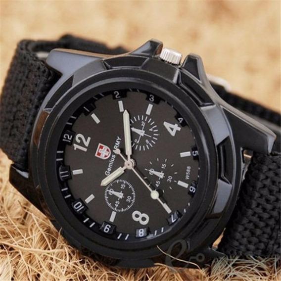 Relógio Masculino Soldado Militar Pulseira Nylon