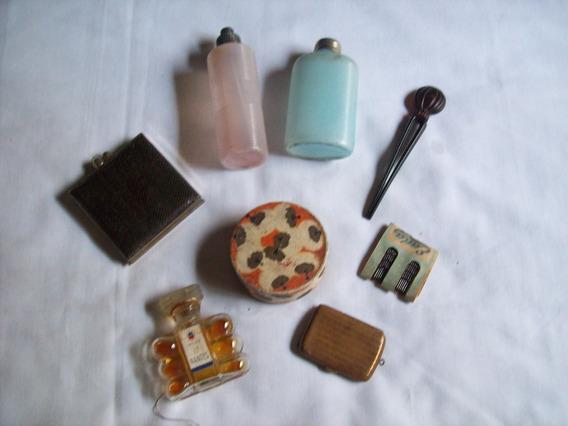 Lote De 8 Productos De Tocador Antiguos Para Dama