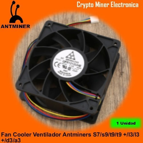 Fan Cooler Ventilador Antminers S7/s9/t9/t9 +/l3/l3 +/d3/a3