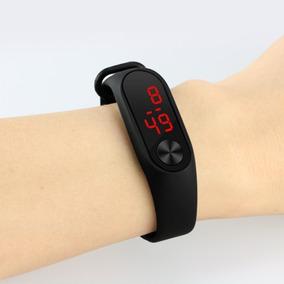 Relógio Digital De Led Com Pulseira De Silicone Fino E Leve
