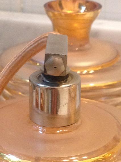 Set De 4 Perfumeros/frascos Antig. Col, Dorado Y Rosa.nuevos