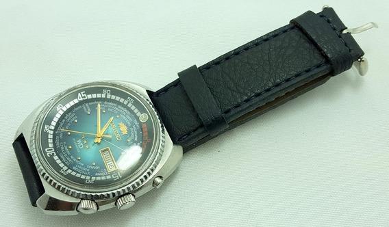Relógio De Pulso Masculino Orient 3 Chaves Hora Mundial