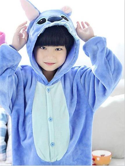 Pijama Stitch Infantil Niño Kigurumi Disfraz Azul