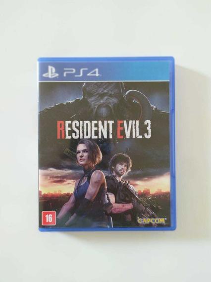 Resident Evil 3 Ps4 Mídia Física Novo Zero E Lacrado