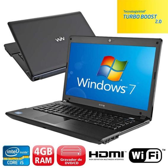 Notebook Win Core I5-2410m 8gb 500gb Wifi Hdmi S/ Bateria