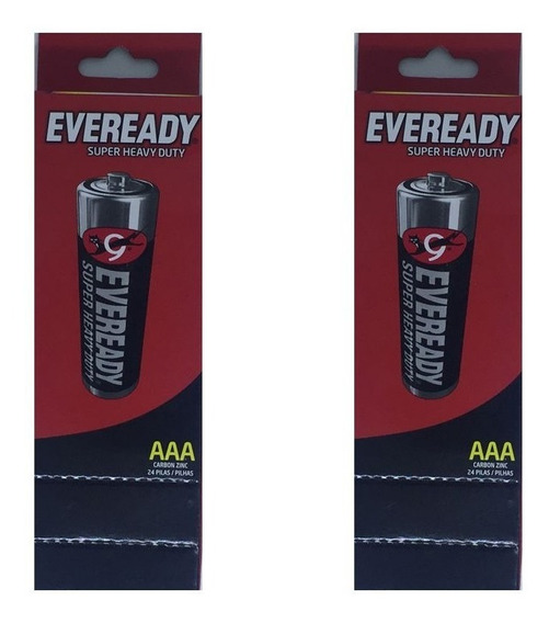 Pilha Eveready Palito Aaa2 48 Pilhas