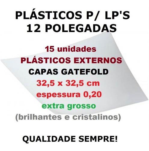 Imagem 1 de 9 de 15 Plásticos Externos 0,20 Grosso P/ Lp Vinil Capa Gatefold