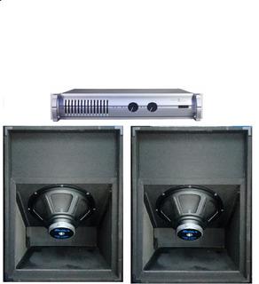 2bafles 1810 Sub Graves 18 1600w+potencia Apx600 Profesional