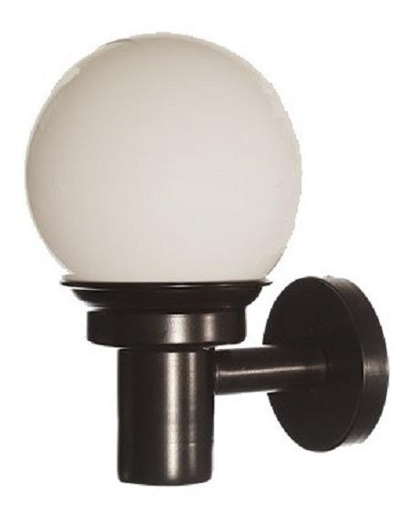 Lámpara Pared Arbotante Acero Negro Vidrio Opalino Maxxi