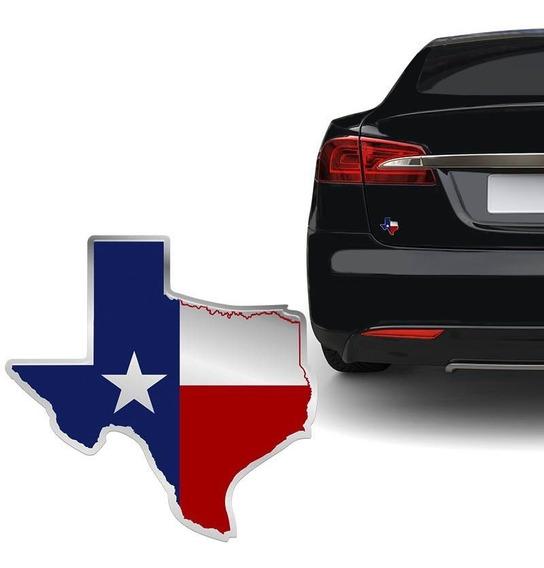 Adesivo Bandeira Texas Resinado Emblema Universal Carro Moto