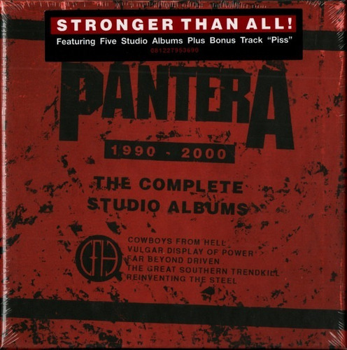 Pantera ¿ The Complete Studio Albums Cd Nuevo Musicovinyl