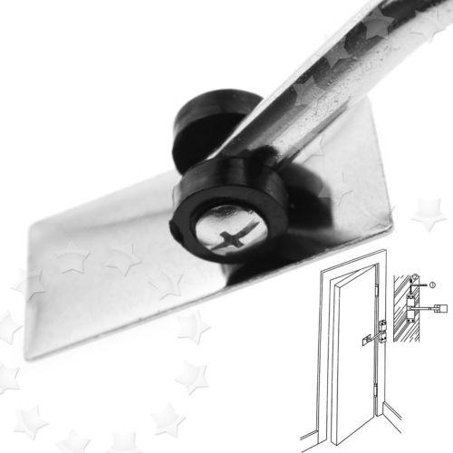 para hardware de puerta autom/ático ultra suave totalmente ajustable color plateado Gu/ía de puerta con marco autom/ático ajustable rodillo de gu/ía de suelo