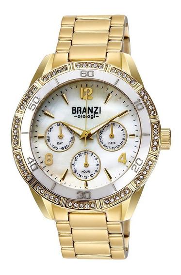 Reloj Dama Branzi By Citizen 20979 Ceramica Y Cristales