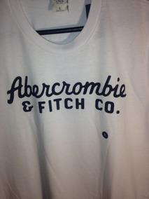 Playera Abercrombie & Fitch Talla L, Blanca, Con Letrero