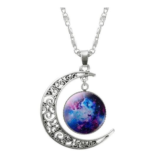 Colar Esóterico Universo Lua Nebulosa Lindo