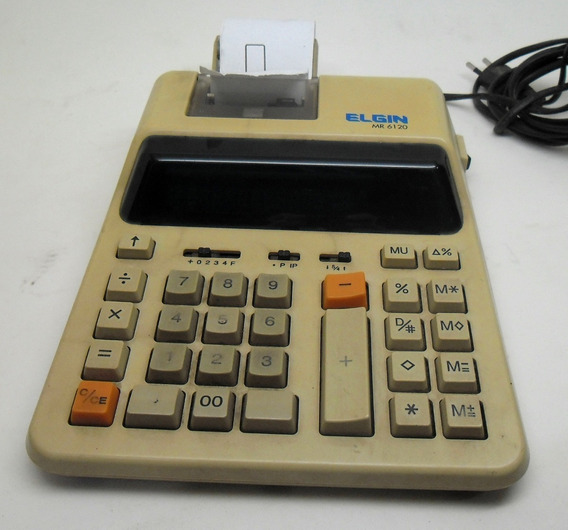 Calculadora Elgin Com Bobina Mr-6120 Funcionando